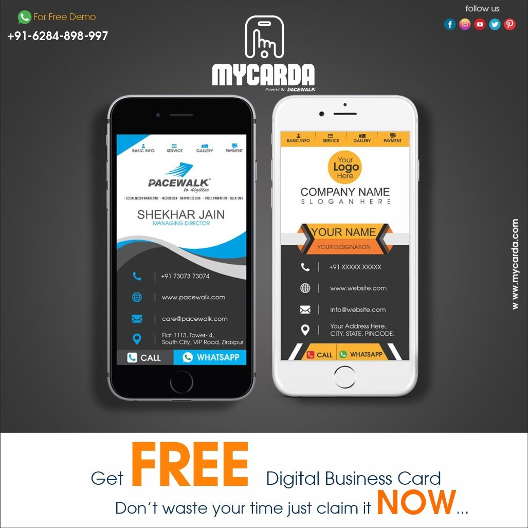 Go Paperless On 50th Earth Day 22nd April Digital Business Card Business Card Maker Digital Business