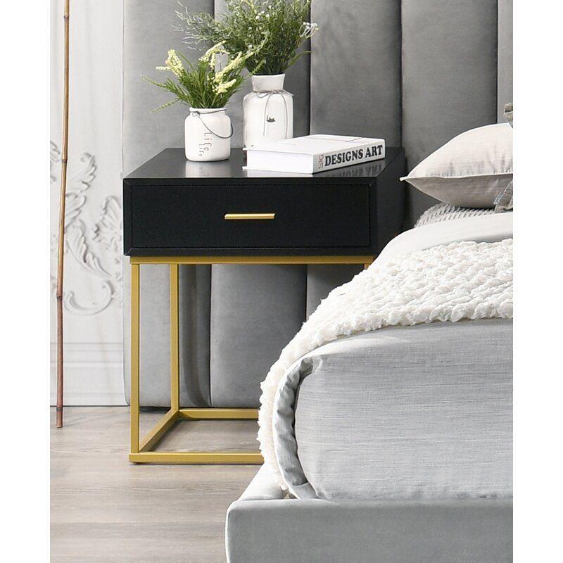 Stone Velvet Standard Configurable Bedroom Set In 2020 Bedroom Night Stands Grey And Gold Bedroom Side Tables Bedroom