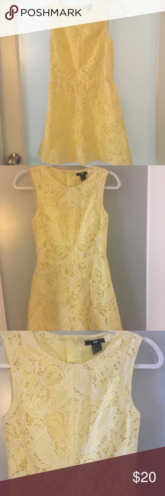 H M Mini Dress In Yellow And White Mini Dress Dresses Hm Dress [ 1740 x 580 Pixel ]