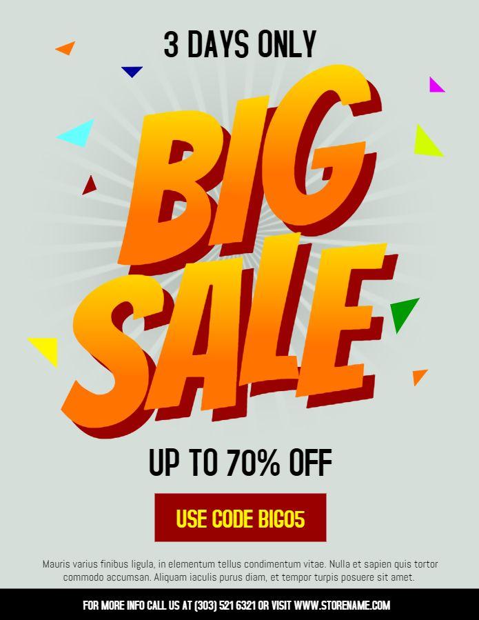big garage sale flyer flyer design