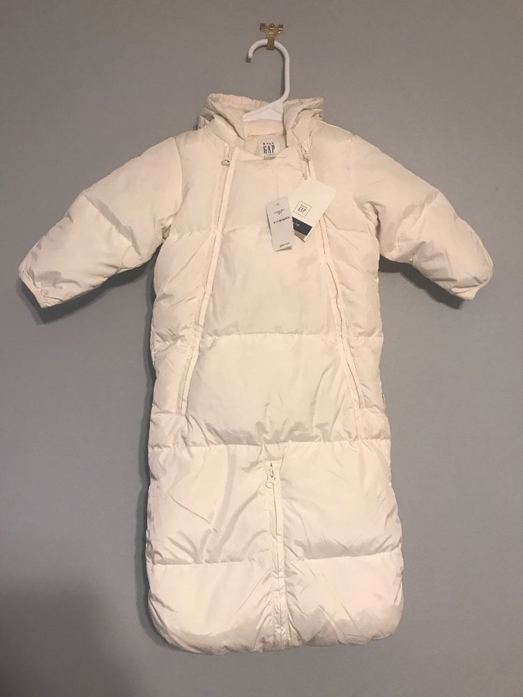 c5363215efd5 NWT baby Gap Snowsuit Boys Girls 6-12 Mos Down Fill Bunting Bundler ...