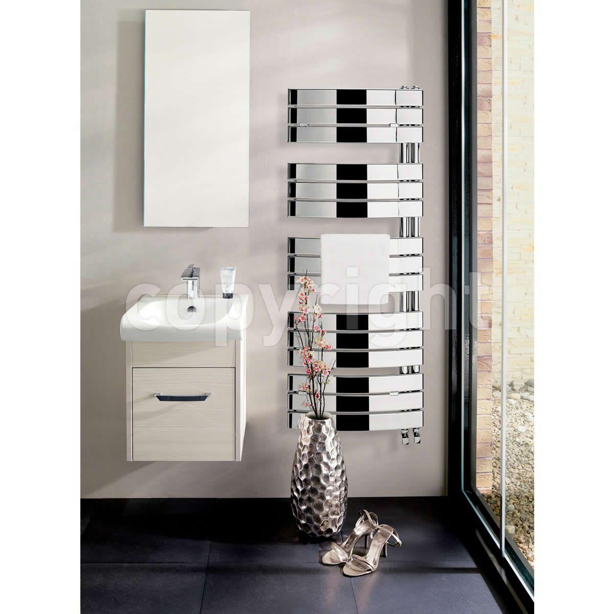 Bauhaus Essence Curved Flat Towel Rail 550 : UK Bathrooms