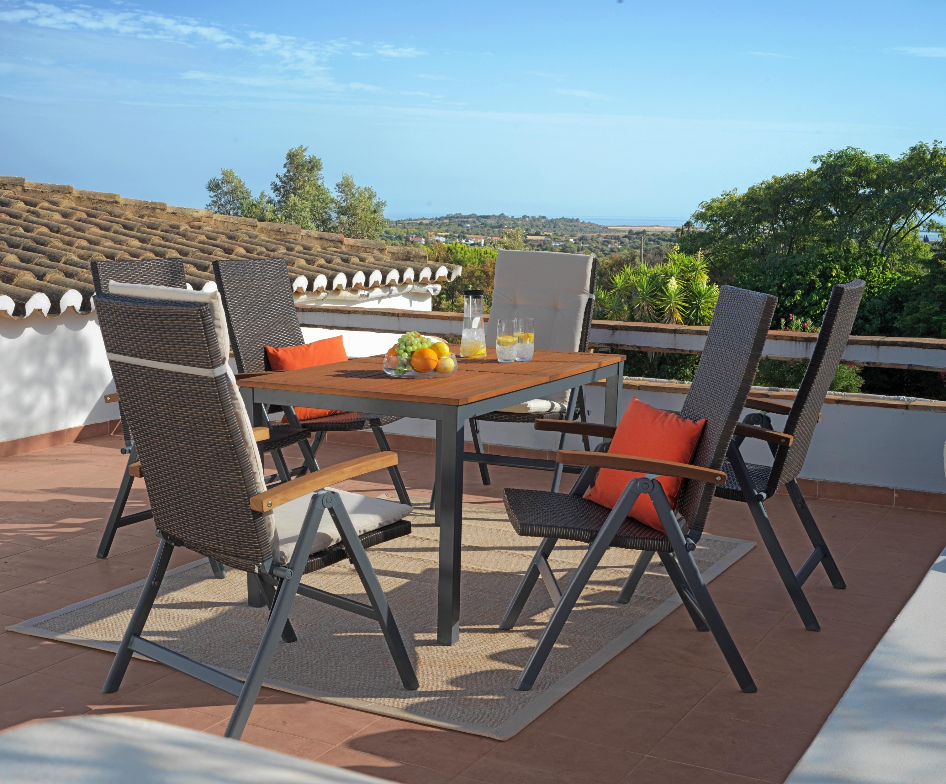 Sitzgruppe Mit Klappbaren Garten Stuhlen Gartenmobel Balkonmobel Lounge Mobel