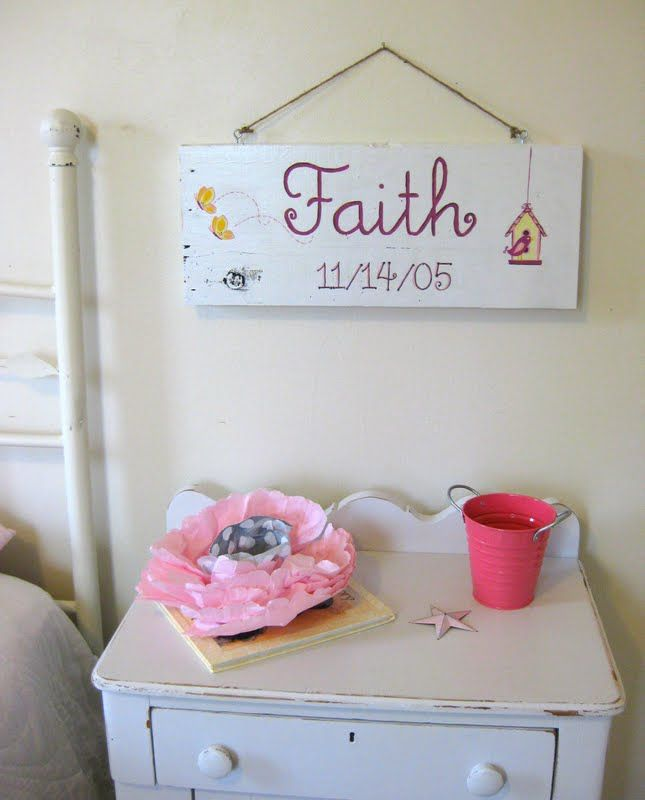 Personalized Wall Sign with Name and Birthdate