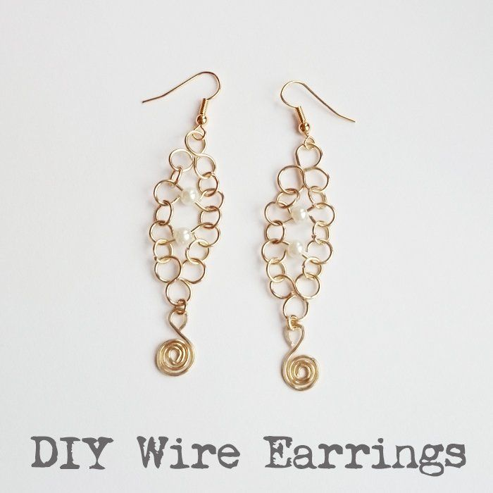 Introduction to Wirework – Easy DIY Wire Earrings | Wire earrings ...