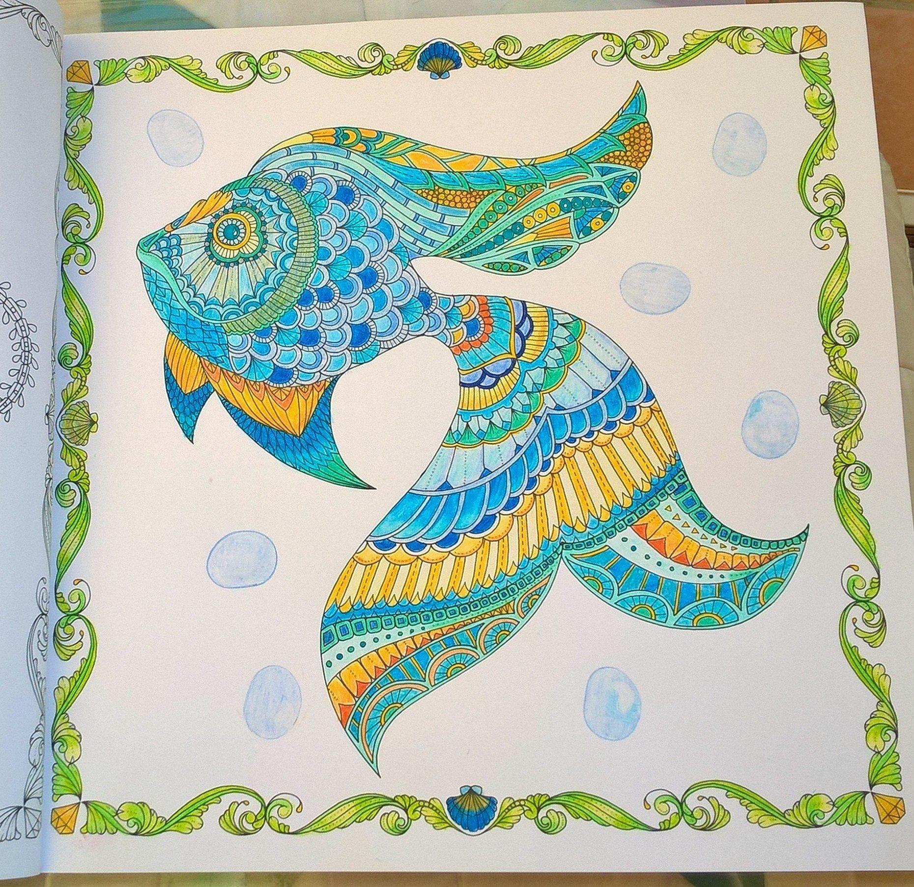 little merlin lost ocean johanna basford coloring me my