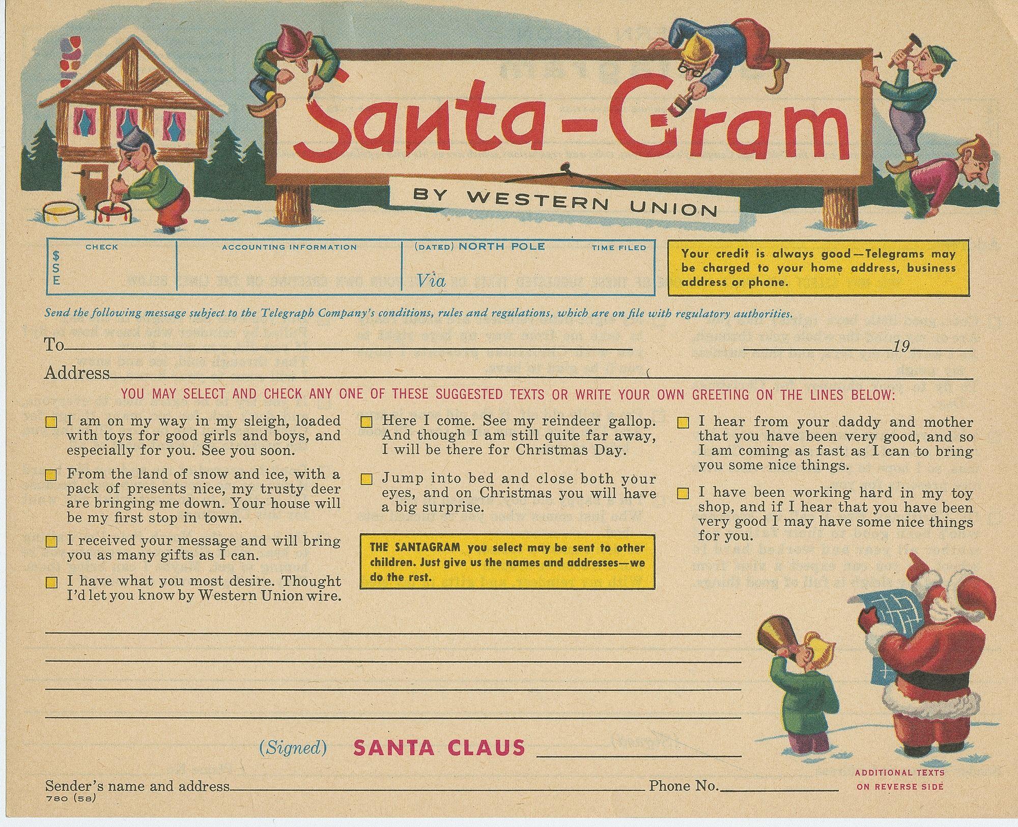 Santa Gram by Western Union
