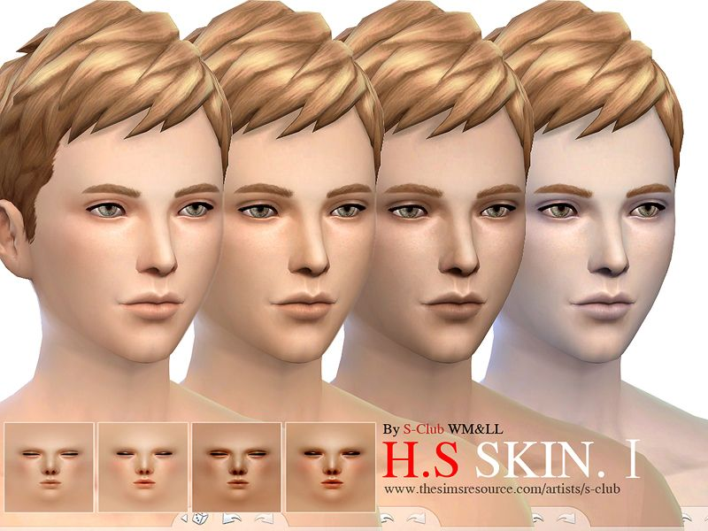 S-Club] WMLL HS Skintones 1   S4 ○ Skin   Sims 4, Sims mods, Sims