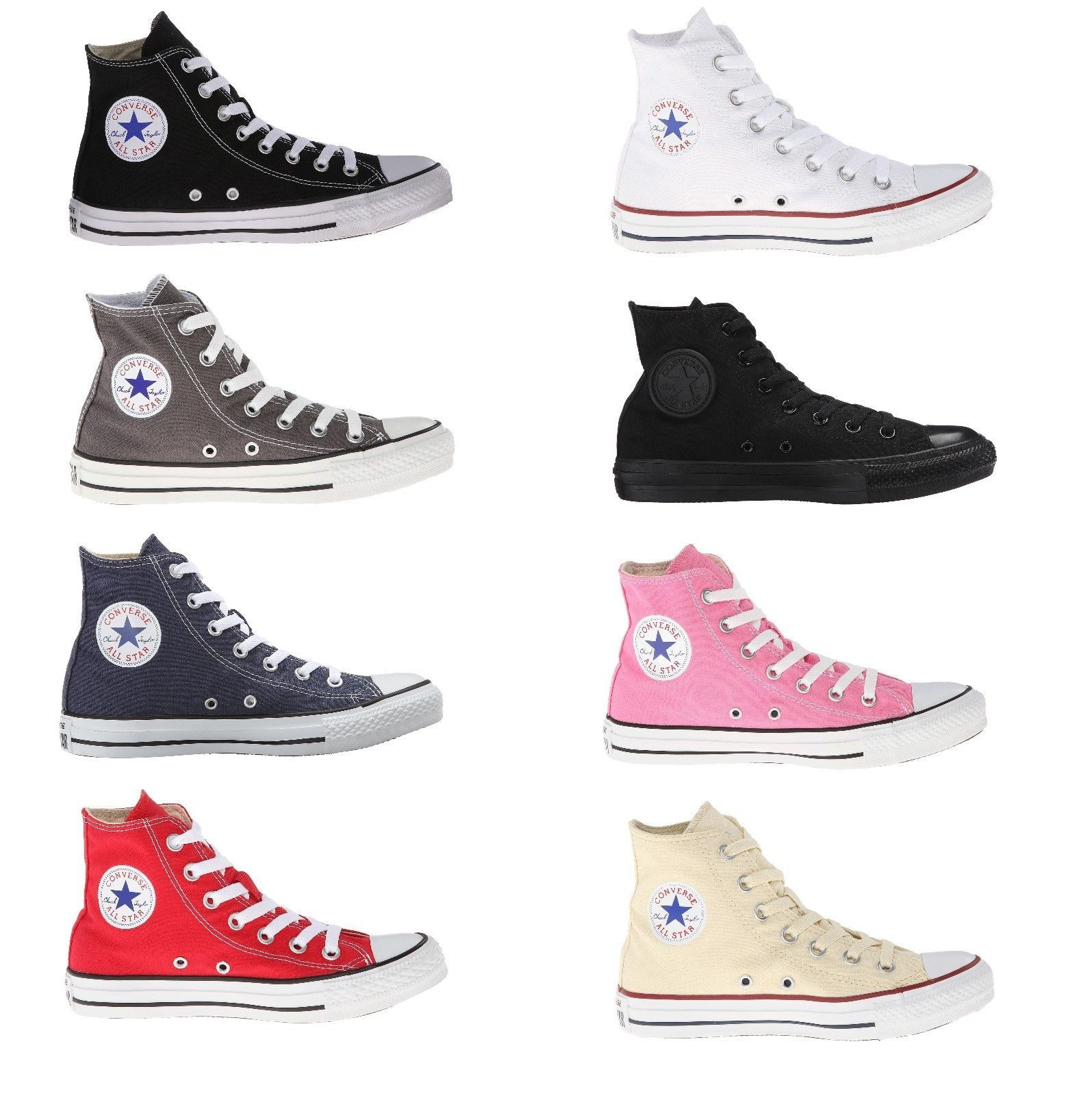 7a4d6783080799 Converse All Star Chuck Taylor Hi Top Core Colors Black White Red Navy Grey  Pink