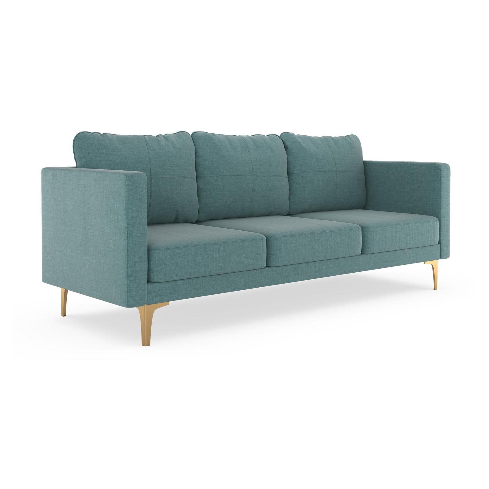 Fine Nyekoncept Maddy Linen Weave Sofa Stone Blue Products In Gamerscity Chair Design For Home Gamerscityorg