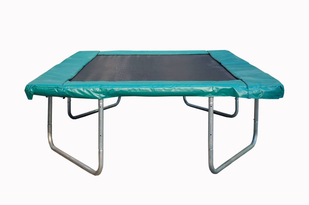 Exterior Trampoline Rectangle Decathlon From Round Or Rectangle Trampoline What To Choose Rectangle Trampoline Trampoline Brick Flooring