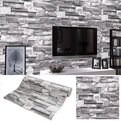 10mx053m Hochwertige Vliestapete Steintapete Tapete Steintapete 3D - steintapete beige wohnzimmer