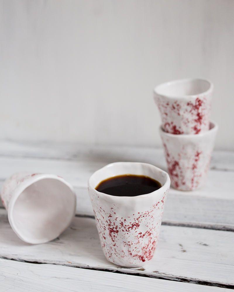 Gift Boxed Coffee Mug Set 4 Mug and Spoon Porcelain Set 8 pcs 12 oz White Mug Unique Coffee Mugs and Tea Cups A Great Marriage or Friends Gift Set Retro Style