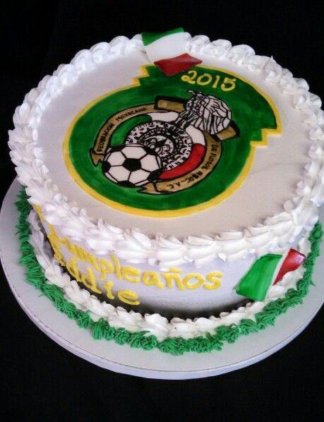 Mexico Soccer Themed Birthday Cake By Christinascakery Com
