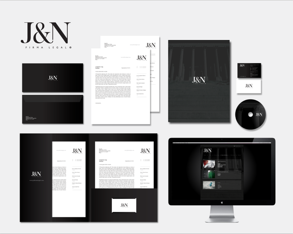 7 Examples Of Corporate Brand Identity For Law Firms Law Branding Business Identity Design Law Firm Branding