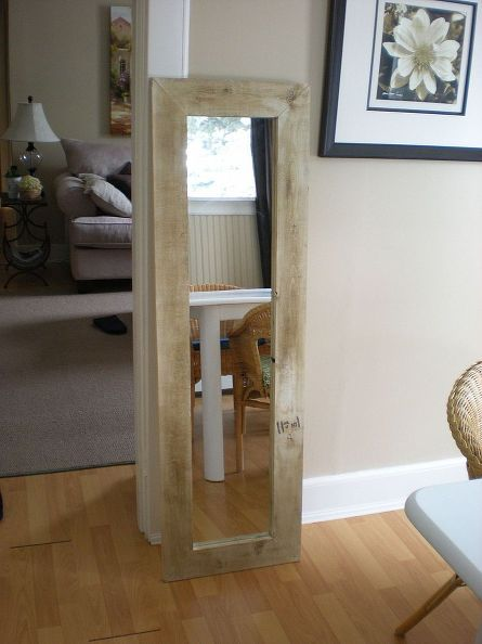 Gorgeous Pine Frame for a Door Mirror - only $5 to build! | Mirror ...