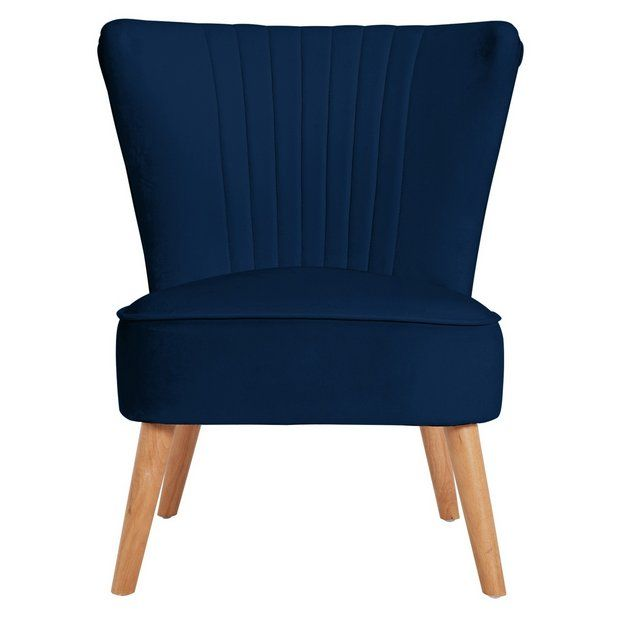 Buy Argos Home Alana Velvet Shell Back Accent Chair