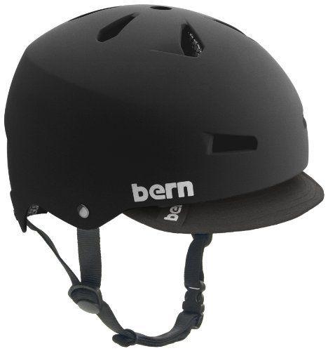 Bern Macon Summer Matte Eps Helmet With Visor Black Large By
