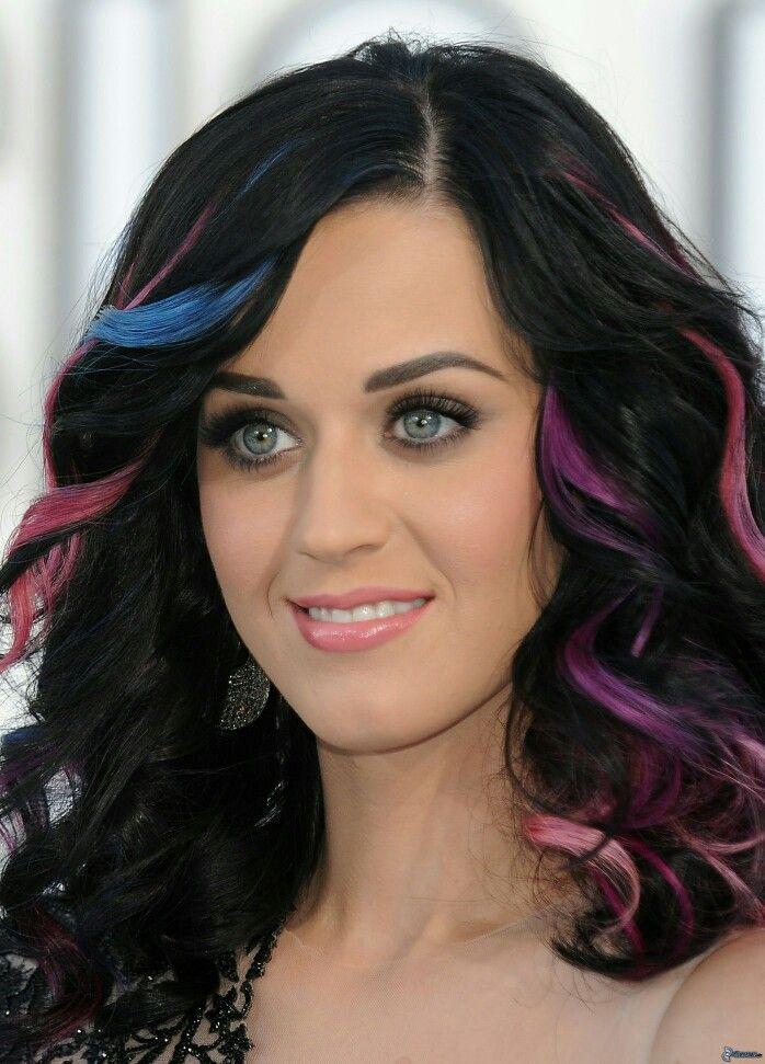 Katy Perry Ideas De Cabello Teñido Mechas De Pelo De Color Púrpura Color De Pelo