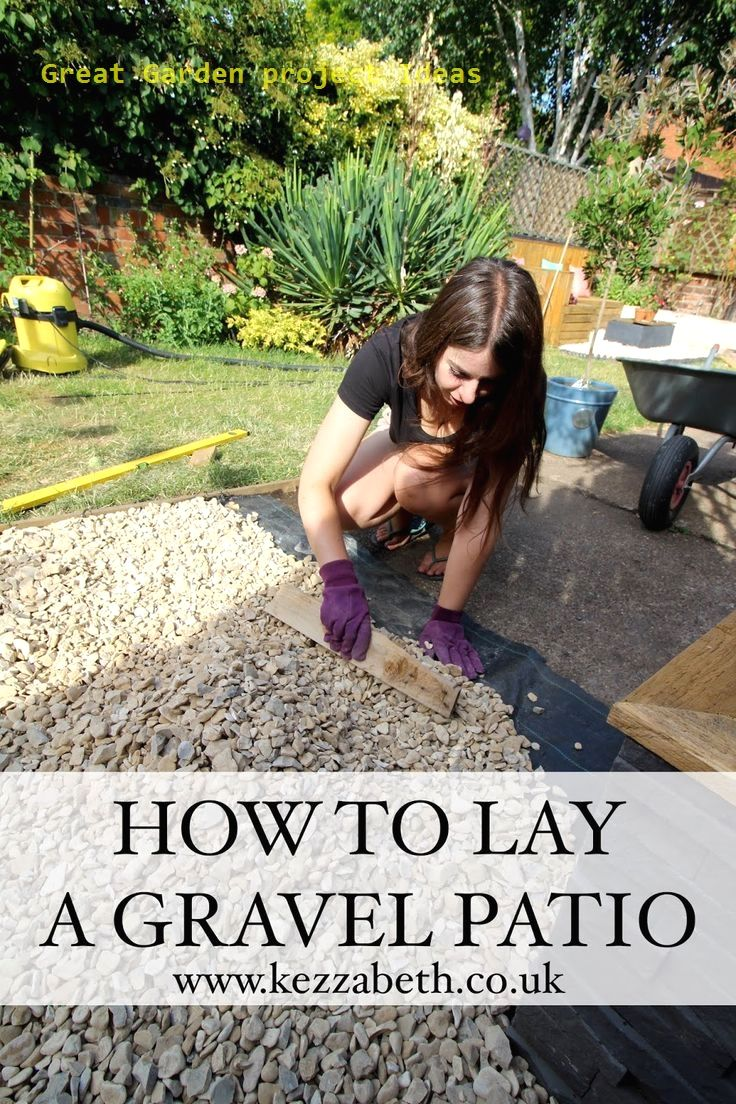 10 Different And Great Garden Project Anyone Can Make In 2020 Gravel Patio Diy Small Backyard Patio Gravel Patio
