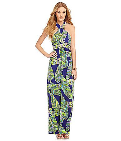 9465c9436f056a Trina Turk Dresses Tilly Leaf Maxi Dress #Dillards   wantit.needit ...