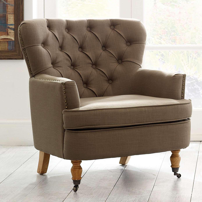 Mink Collette Button Back Armchair | Dunelm | Cosy | Pinterest