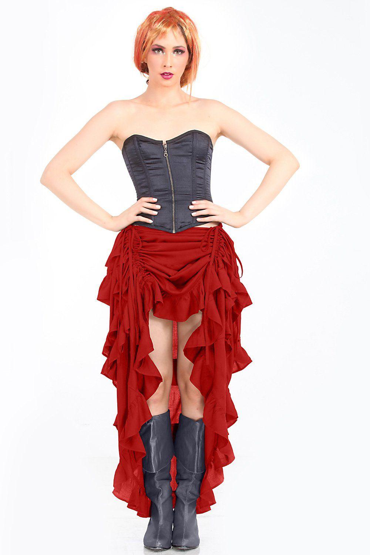 Steampunk Victorian Gothic Womens Costume Show Girl Skirt