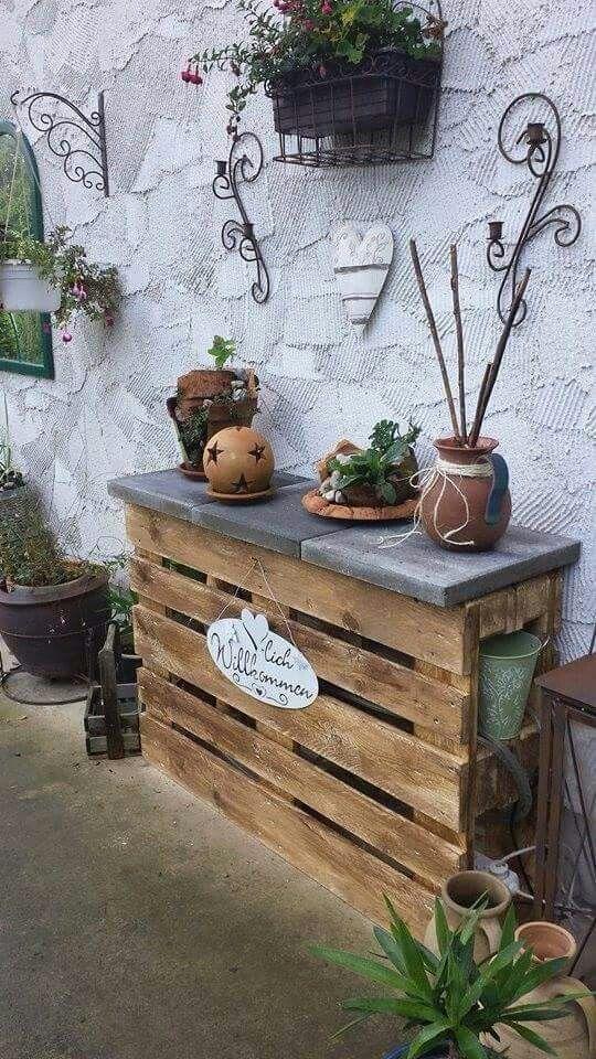 Schöner Hingucker! Cabanes peintes Pinterest Pallets - küche aus paletten