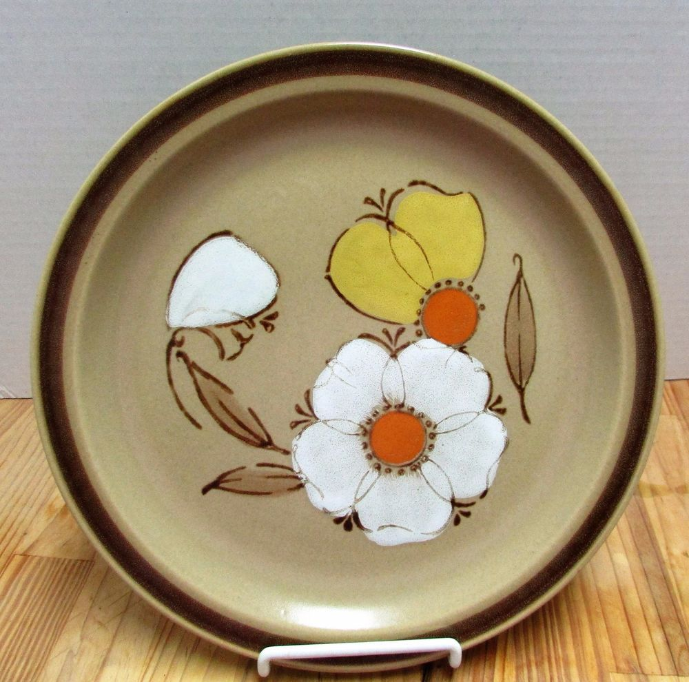 Vtg Dogwood Hearthside Stoneware Dinner Plate Yellow Orange White Flowers 70u0027s #Hearthside & Vtg Dogwood Hearthside Stoneware Dinner Plate Yellow Orange White ...