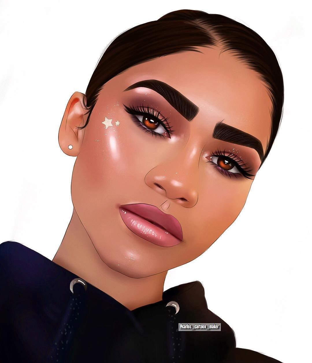 Cartoon Maker On Instagram Cartoon I Did Of Zendaya Tag Her Pls Dropping Tutorial For This L Cartoon Maker Instagram Cartoon Cartoon Girl Drawing