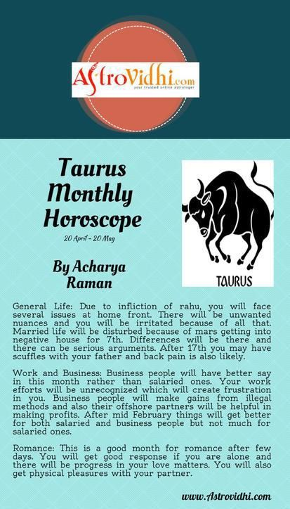 taurus horoscope monthly