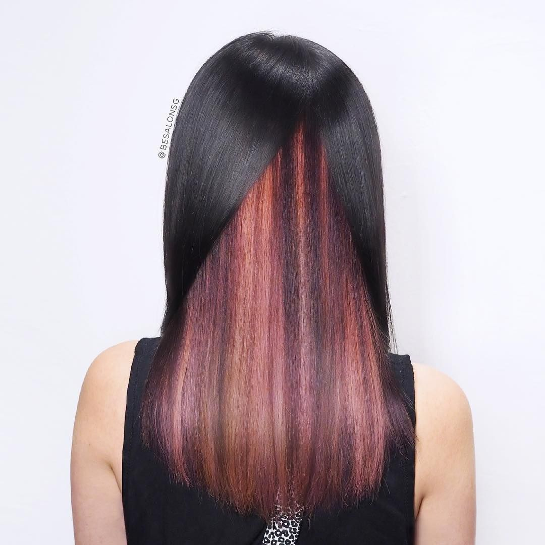 29 Subtle And Popping Peekaboo Highlights Hairstyles Peekaboo Highlights Underlights Hair Blonde Peekaboo Highlights