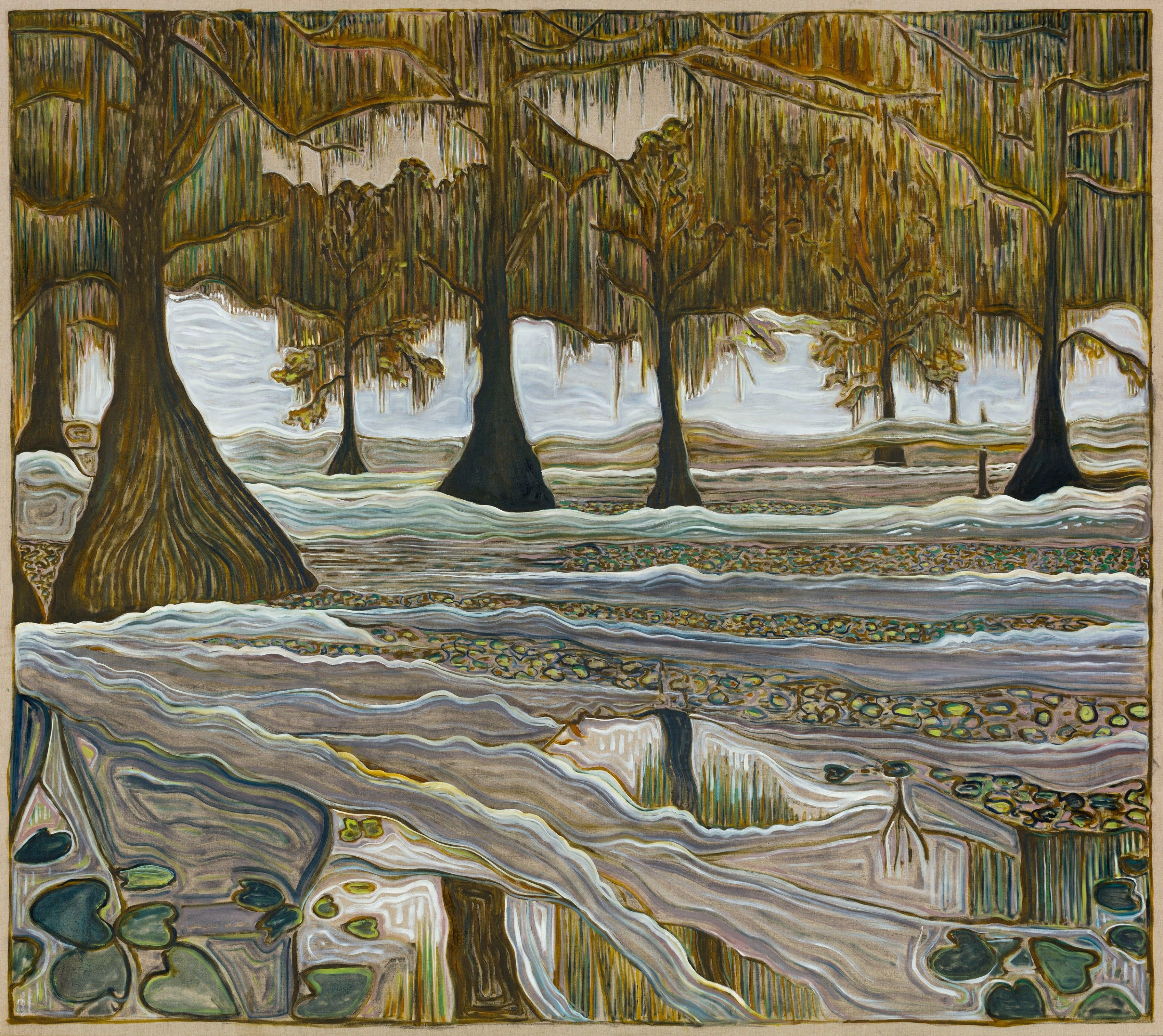 Billy Childish cypress swamp Art Basel Billy