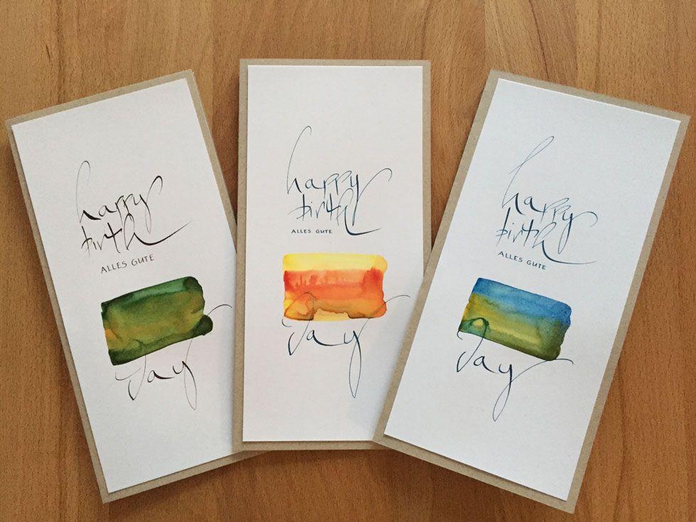 KARTENTRAUM: Geburtstagskarten | kalligraphie | Pinterest ...