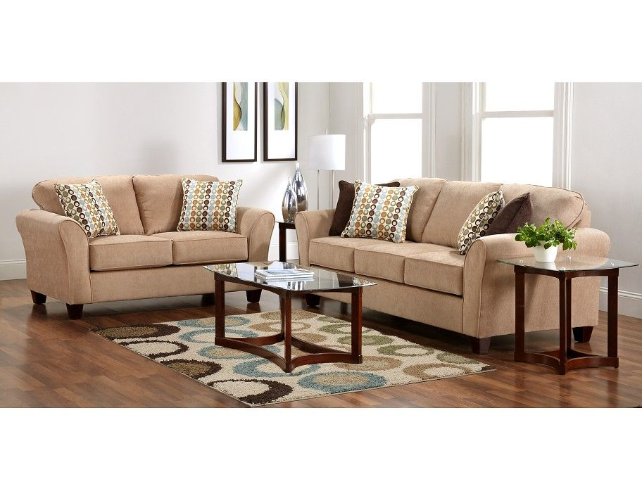 Terrific Slumberland Chatham Collection Tan Sofa Loveseat Chair Pabps2019 Chair Design Images Pabps2019Com