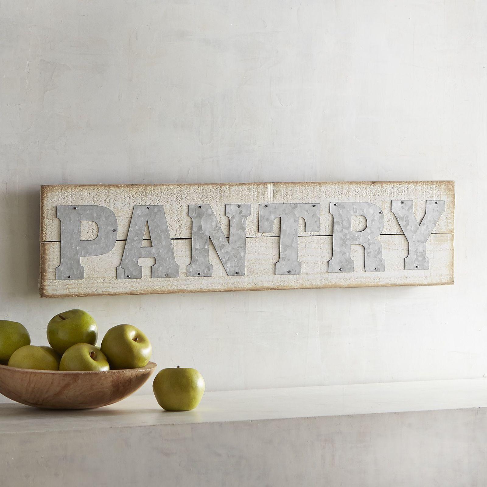 Pantry Wall Sign Pantry Wall Sign