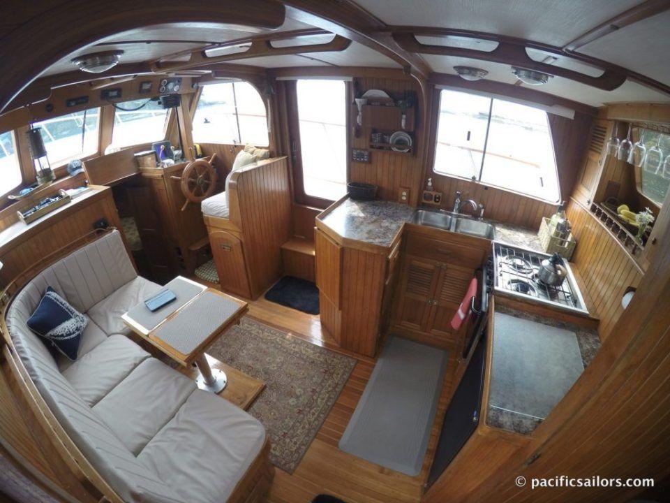 The Trawler Boat Interior Design Boat Interior Boat House Interior
