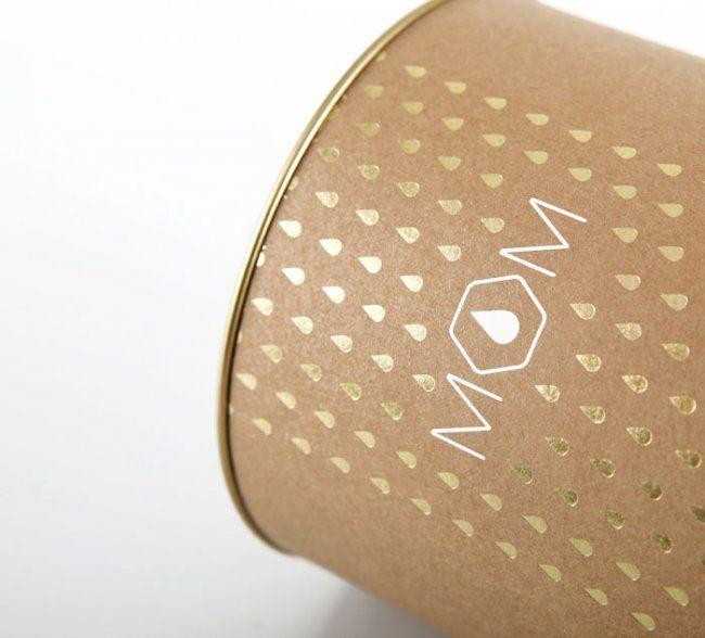 Metallic printing, yes please!   Honey packaging designed by beza.