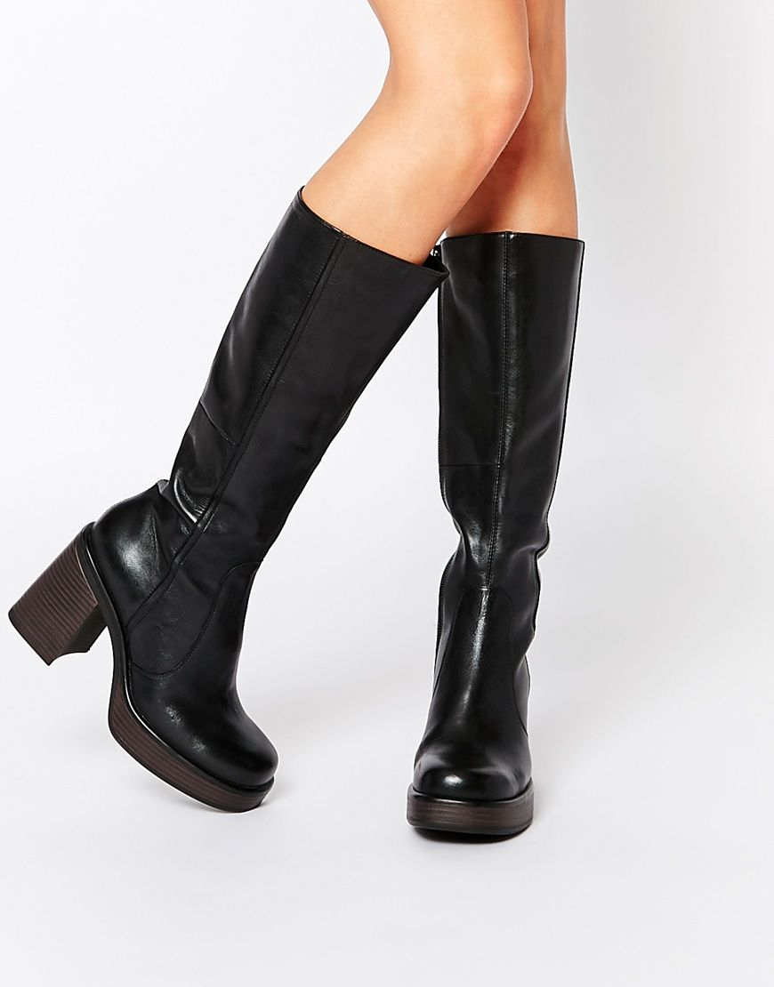 7109756ca99 Vagabond+Tyra+Black+Leather+Knee+High+Boots