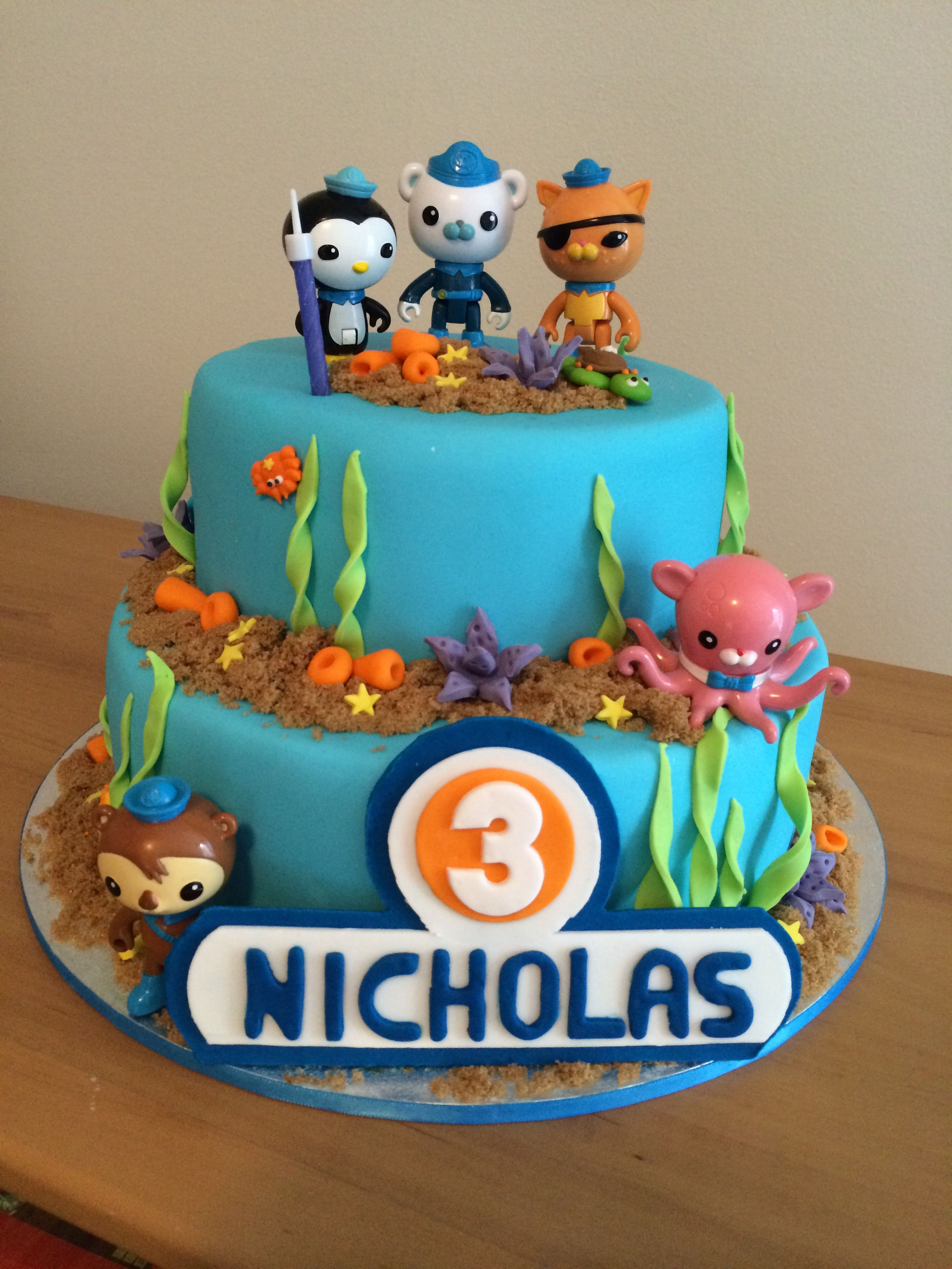 Superb Octonauts Cake For Nicholas With Images Happy Birthday Cake Funny Birthday Cards Online Alyptdamsfinfo