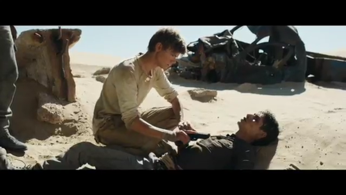 NEWT WITH A GUN AGAINST THOMAS'S CHEST?!?!?! NO NEWT. NO.