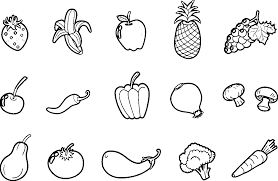 fruit coloring pages sheets energy | Image result for fruits and vegetables colouring pages ...