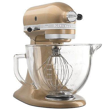 Kitchenaid 5 Qt. Artisan Design Series with Glass Bowl - Champagne Gold  KSM155GBCZ