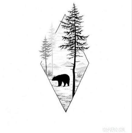 65 Trendy Ideas Tattoo Geometric Bear