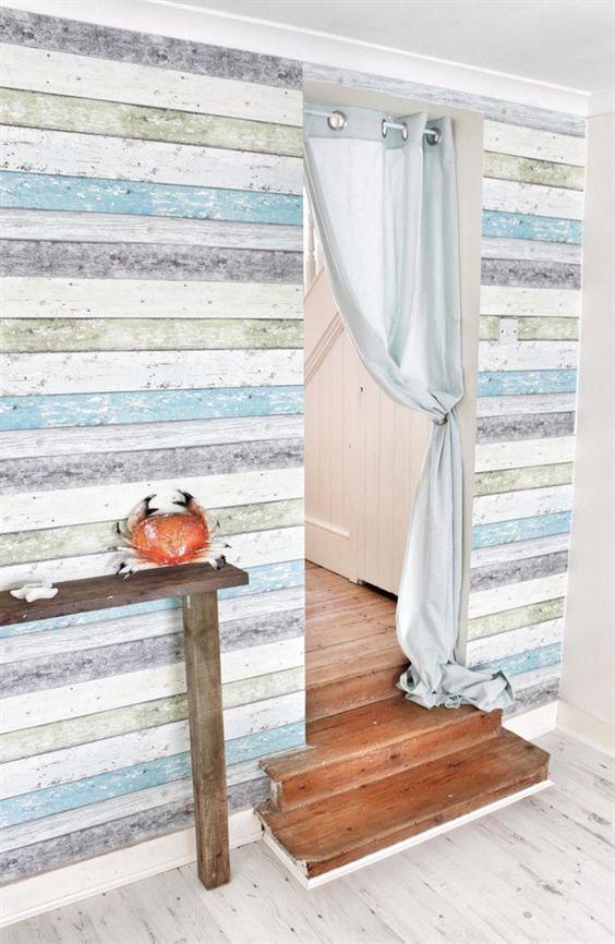 Cómo decorar una pared con madera de palet Pinterest Decorar