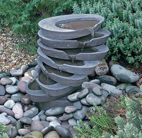 outdoor garden fountains ideas