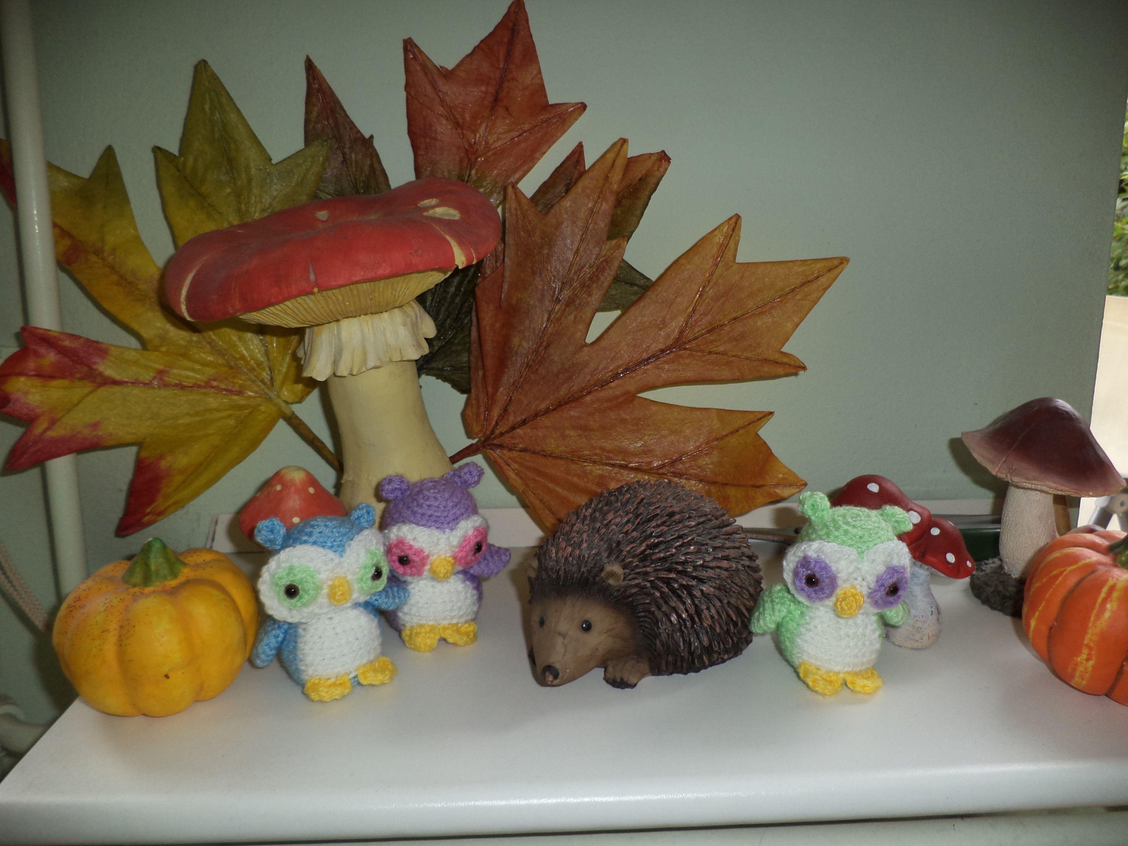 Nel the Tiny Owl... Times 3! (FreshStitches)