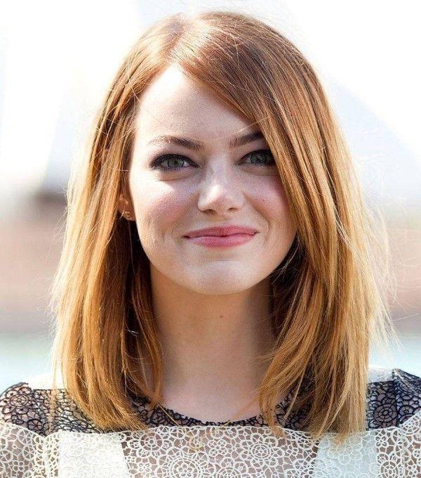 10 Frisuren Halblanges Haar Rundes Gesicht #frisurenkinnlang