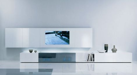 contemporary wall unitacerbis - new concepts audio/video unit