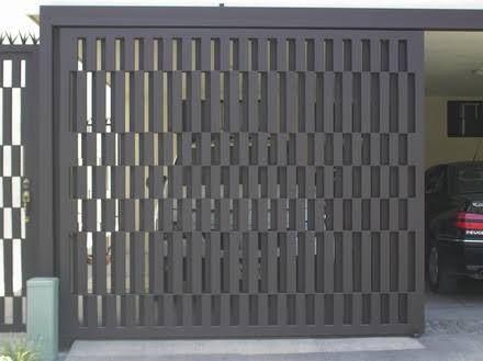 Portones de herreria modernos corredizos buscar con for Puerta herreria moderna